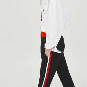 Zara Pants - Zara black striped trousers joggers
